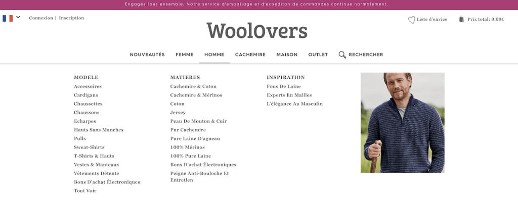 La boutique en ligne WoolOvers