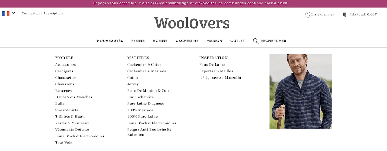 La boutique en ligne WoolOvers