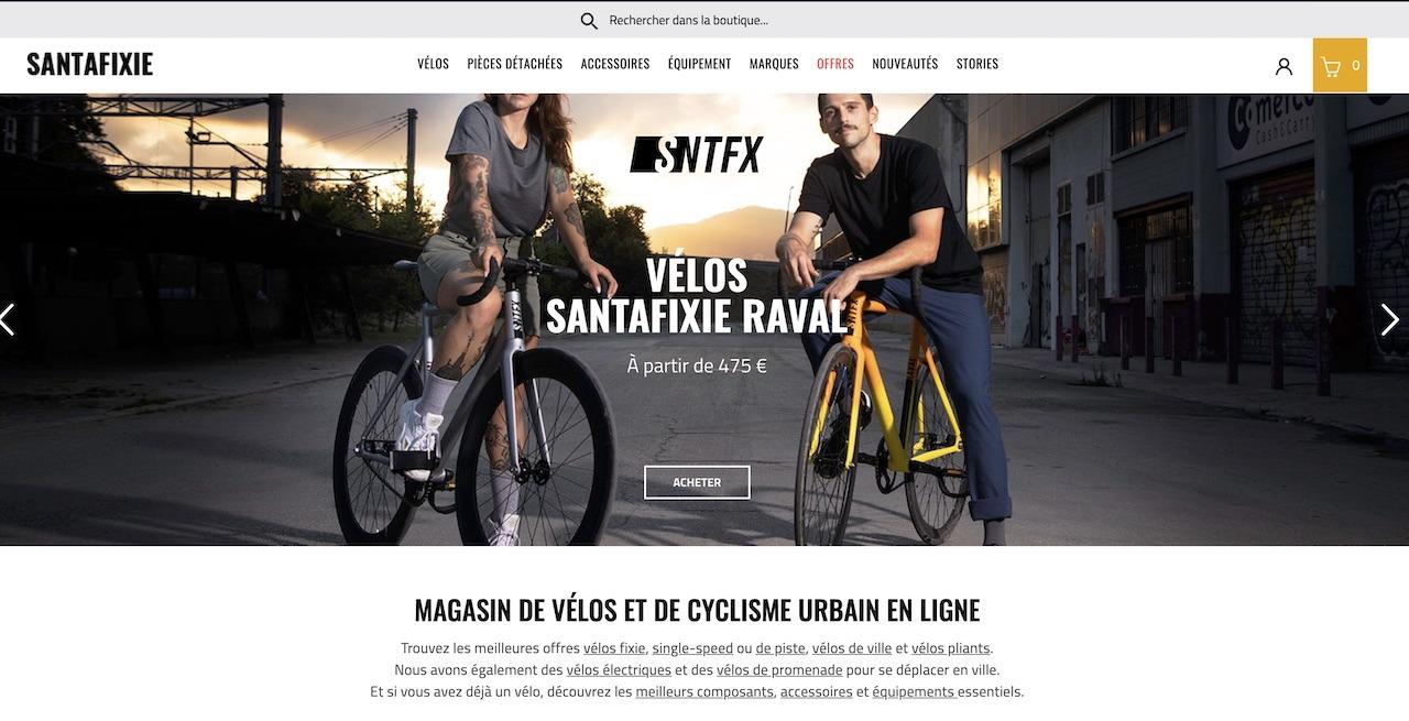 Santafixie, magasin de vélo en ligne