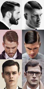 Cheveux courts pour hommes avec fente latérale